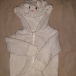 3/$20 White Comfy Sweater with Mouse Hoodie